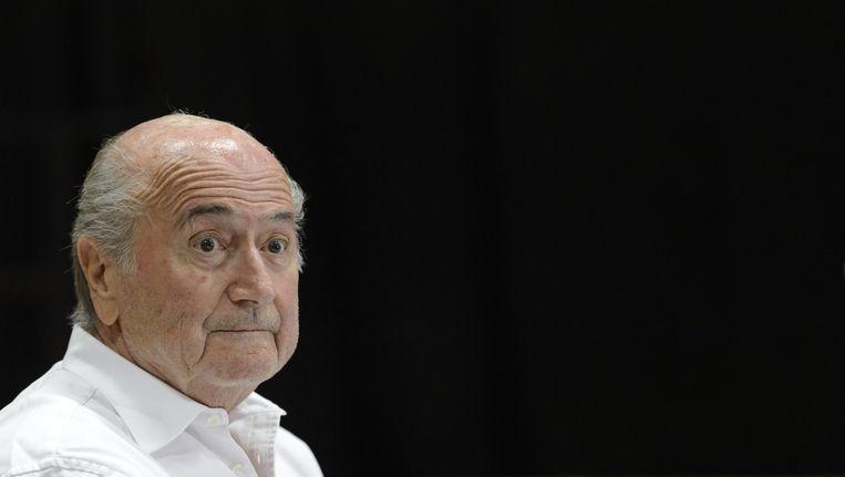 Sepp Blatter: voor het eerst lijkt hij persoonlijk rechtstreeks betrokken bij een dubieuze affaire. Beeld AP