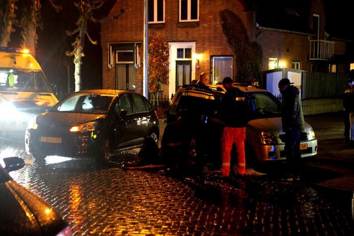 Ongeluk op de Grotestraat in Drunen.