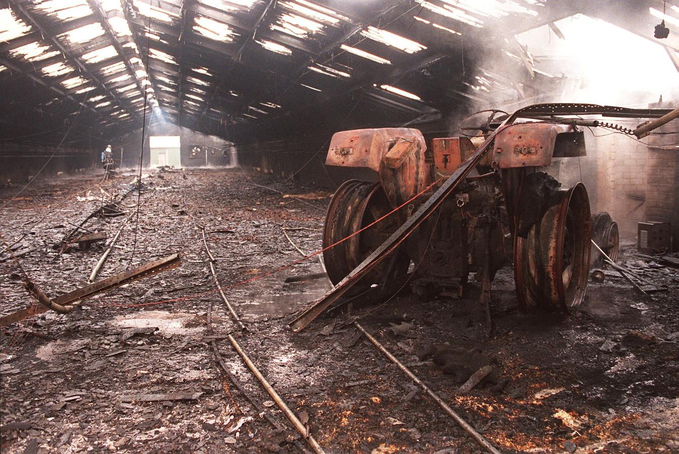 Brand bij een Rosmalense kippenboer.