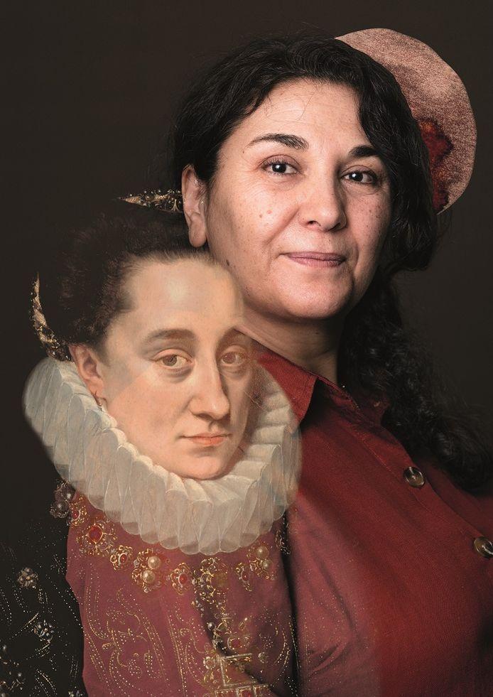 Portret van Maria van Nassau, ca. 1580-1590, van Adriaen Thomasz. Key, dat hangt in Museum Prinsenhof Delft, in combinatie met het portret van Selma, één van de Delftse vrouwen die haar verhaal doet voor de Delftse Blik.