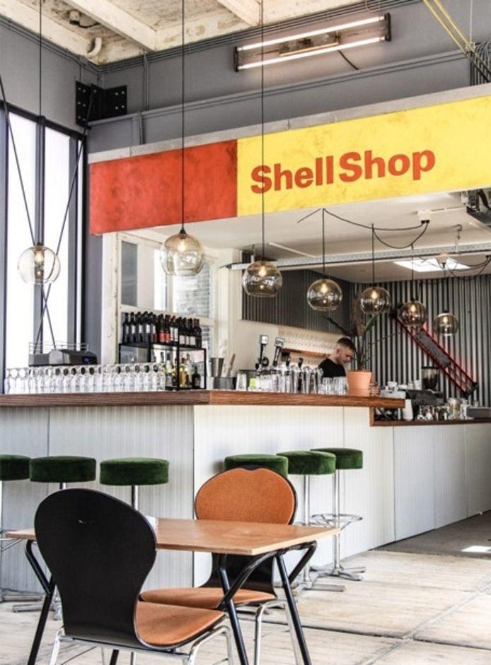 Interieur van De Pomp, restaurant aan de Croeselaan.