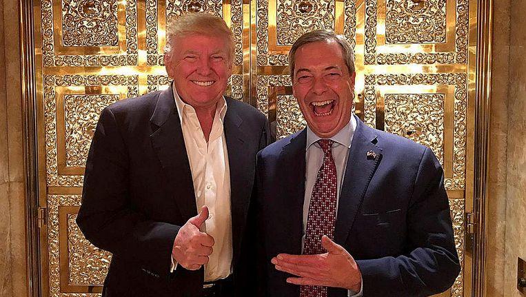 Donald Trump en Nigel Farage Beeld Twitter