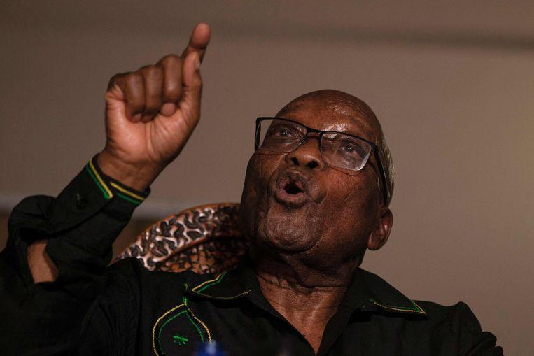 Jacob Zuma staat begin juli thuis de pers te woord. Beeld AFP