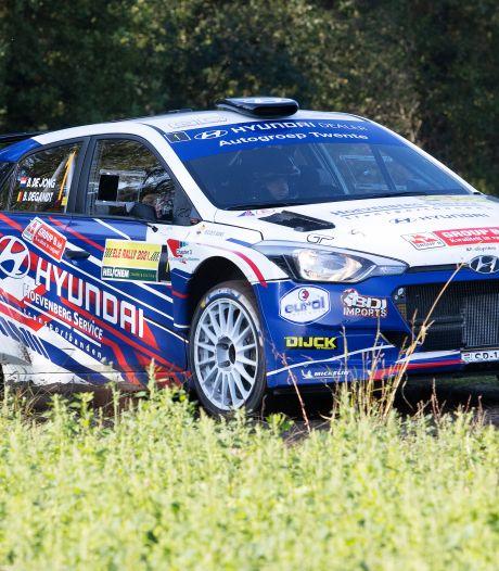 Bob de Jong wint in een Hyundai i20 probleemloos de ELE Rally