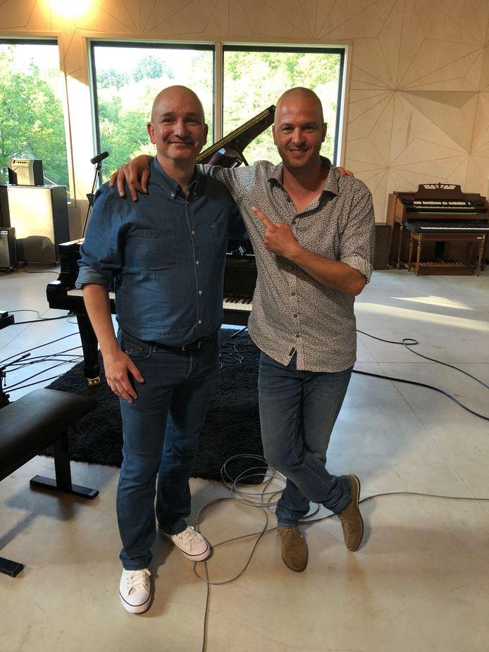 Ivaan Feys (links) met Stan Van Samang, ten tijde van het VTM-programma Studio Stan drie jaar geleden.