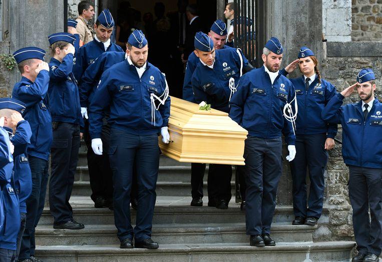 Begrafenisplechtigheid van Amaury Delrez, de politieman die werd doodgeschoten in Spa.