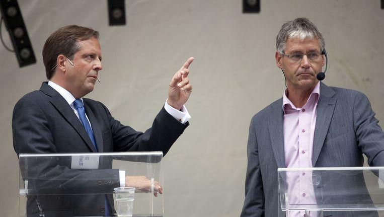 Leider van D66 Alexander Pechtold (links) en Arie Slob van de ChristenUnie Beeld ANP