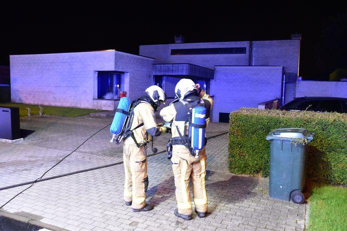 De brandweer was de situatie snel meester, in de alleenstaande woning langs de Stijn Streuvelslaan in Avelgem.