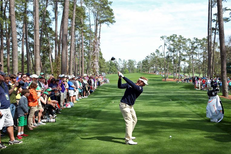 AUGUSTA, GA - APRIL 08: Joost Luiten of Netherlands hits a shot during a practice round prior to the start of the 2014 Masters Tournament at Augusta National Golf Club on April 8, 2014 in Augusta, Georgia.   Andrew Redington/Getty Images/AFP == FOR NEWSPAPERS, INTERNET, TELCOS & TELEVISION USE ONLY == Beeld AFP