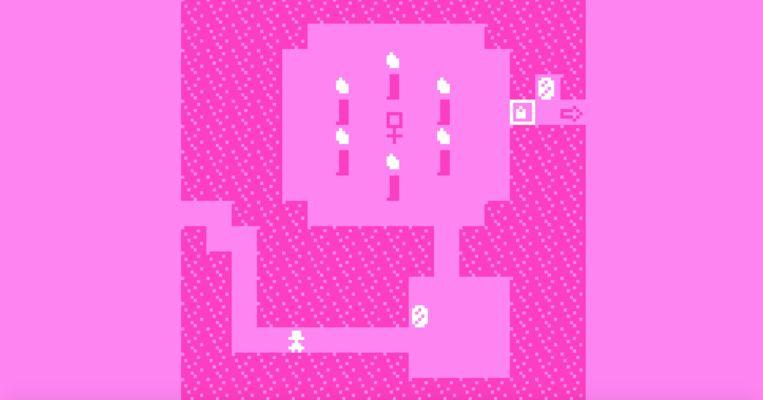 '(Re)birthday': een eenvoudige, symbolische game waarin een 'wedergeboorte' wordt gevierd met kaarsen die de speler moet verzamelen. Beeld Meditations