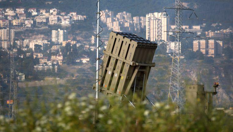 Een Iron Dome-lanceerinstallatie. Beeld EPA