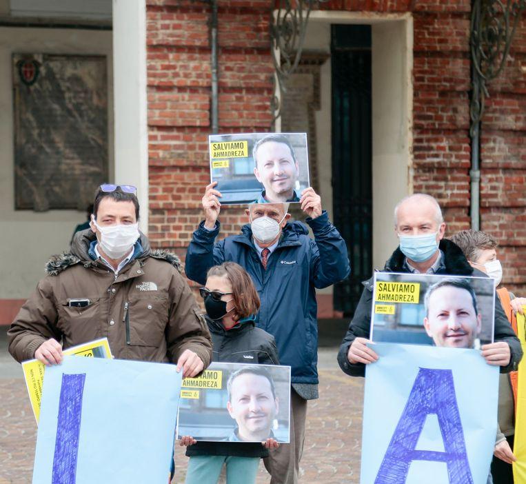 In Turijn wordt actiegevoerd voor de vrijlating van Djalali. Beeld Photo News