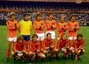 Oranje voor de finale van het WK 1978 tegen Argentinië. Vier PSV'ers stonden in de basis. Staand vlnr: Johnny Rep, Jan Jongbloed, Arie Haan, Ernie Brandts (PSV), Johan Neeskens en Ruud Krol. Onder: Wim Jansen, Jan Poortvliet (PSV), Willy van de Kerkhof (PSV), René van de Kerkhof (PSV) en Rob Rensenbrink.