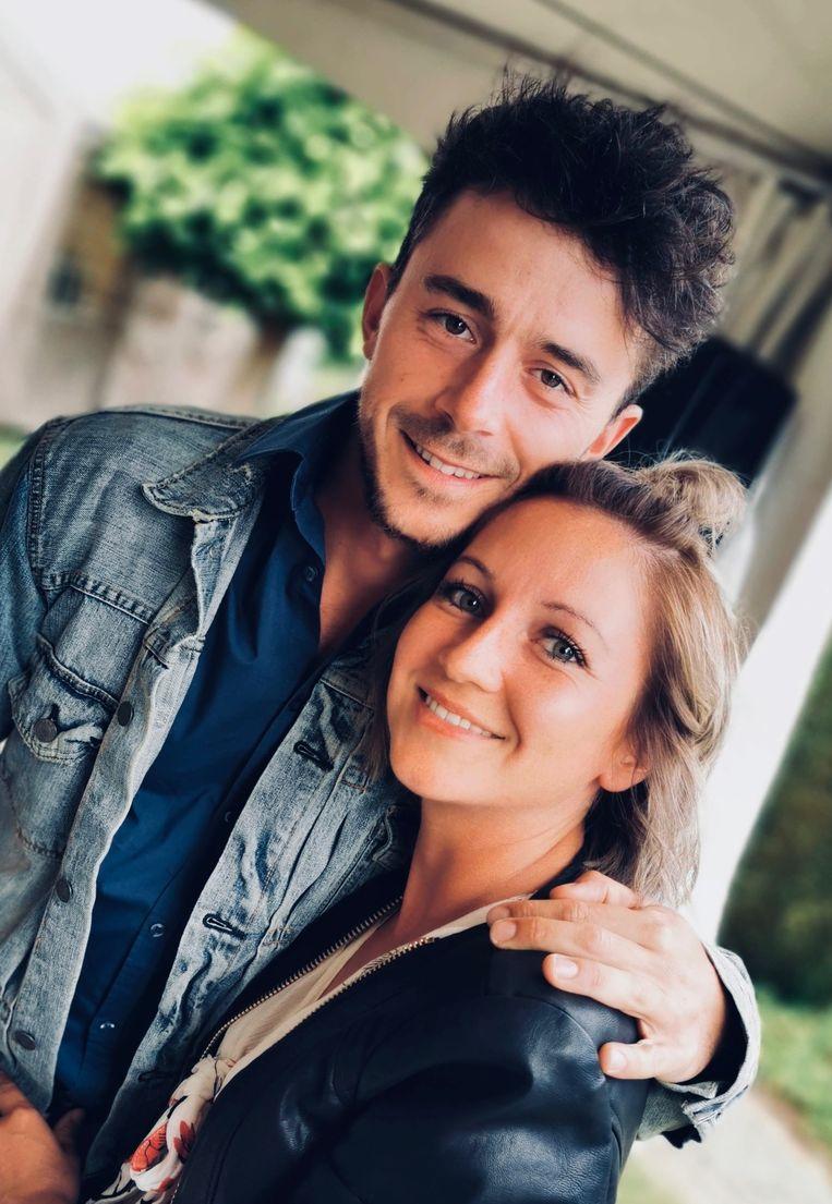 Dean Delannoit met zijn vriendin Kaya.