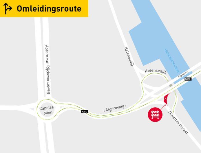 Omleidingsroute Nijverheidstraat.