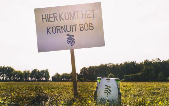 Voor elke verpakking Kornuitbier laat Grolsch bomen aanplanten in een nieuw bos in Twente. Daarmee wordt de co2-uitstoot van bierproductie en - consumptie gedeeltelijk gecompenseerd.