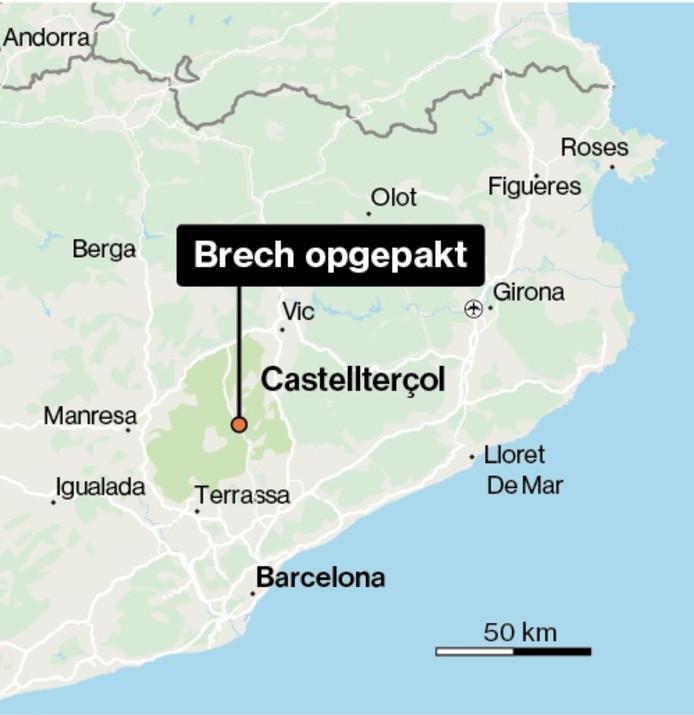 De locatie waar Brech werd aangetroffen.