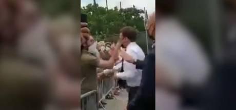 Vier maanden cel voor Fransman die Macron sloeg