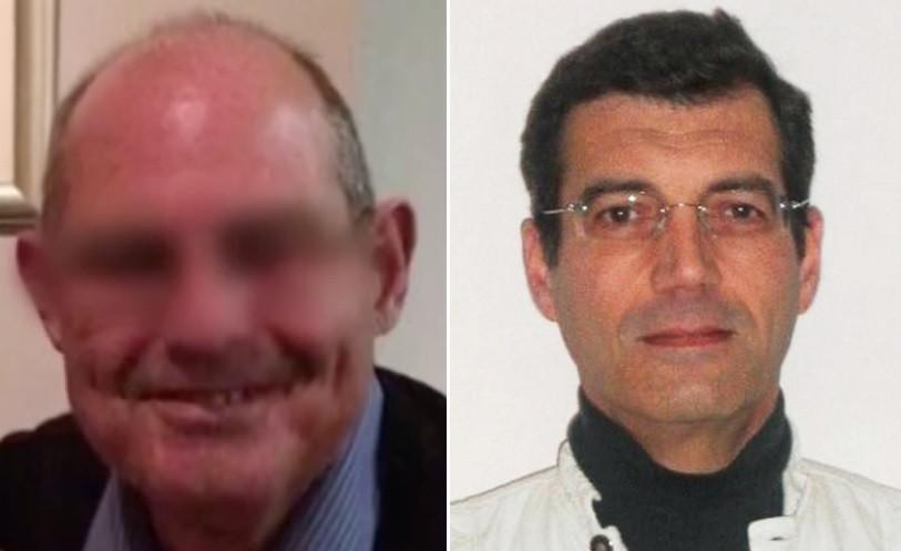 Guy Joao (links) en de echte voortvluchtige dader Xavier Dupont de Ligonnès