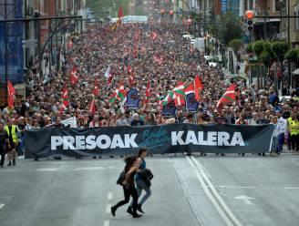 Duizenden mensen betogen in Bilbao voor betere omstandigheden ETA-gevangenen