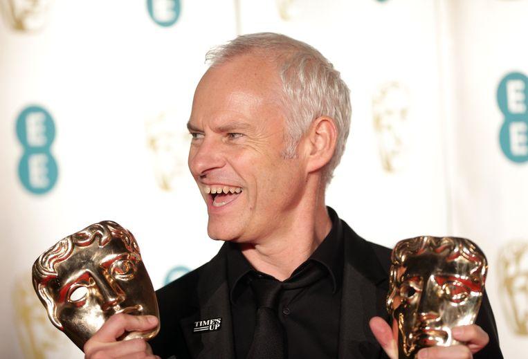 Regisseur Martin McDonagh met twee van de vijf gewonnen Bafta's. Beeld Photo News