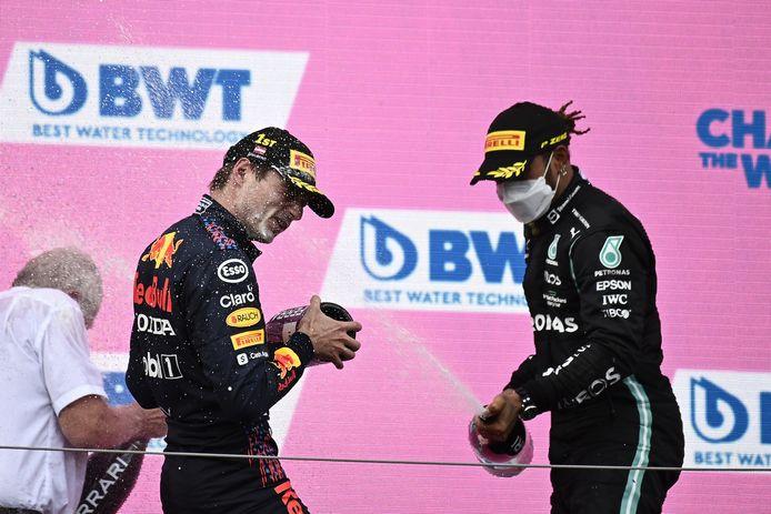 Verstappen en Hamilton.