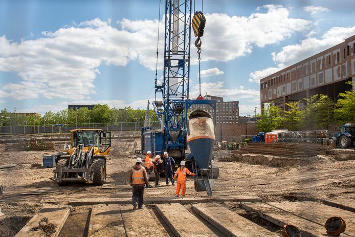 Nieuwbouw naast het Bredase station