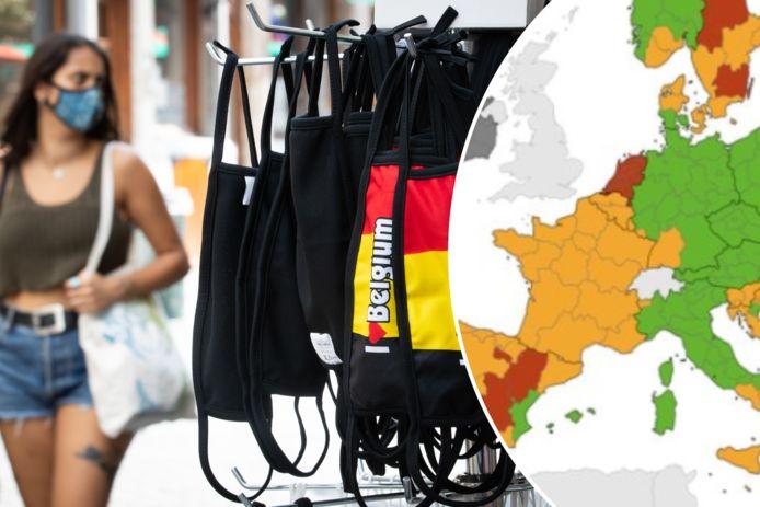 België kleurt weer volledig oranje op de coronakaart van het Europees Centrum voor Ziektepreventie en -controle (ECDC).