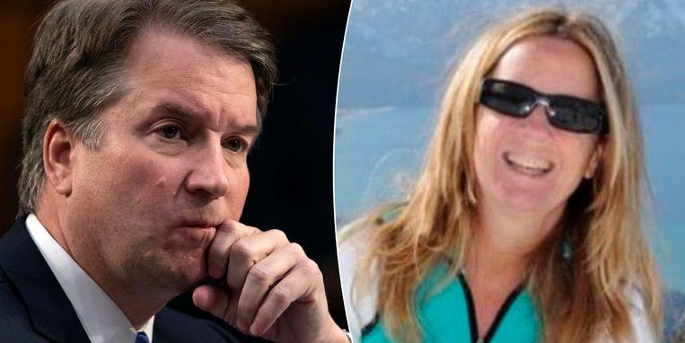 Christine Blasey Ford (rechts) die zegt te zijn misbruikt door de Amerikaanse kandidaat-rechter Brett Kavanaugh (links) wil dat de FBI de beschuldigingen onderzoekt. Eerder zal ze geen verklaringen in het openbaar afleggen.