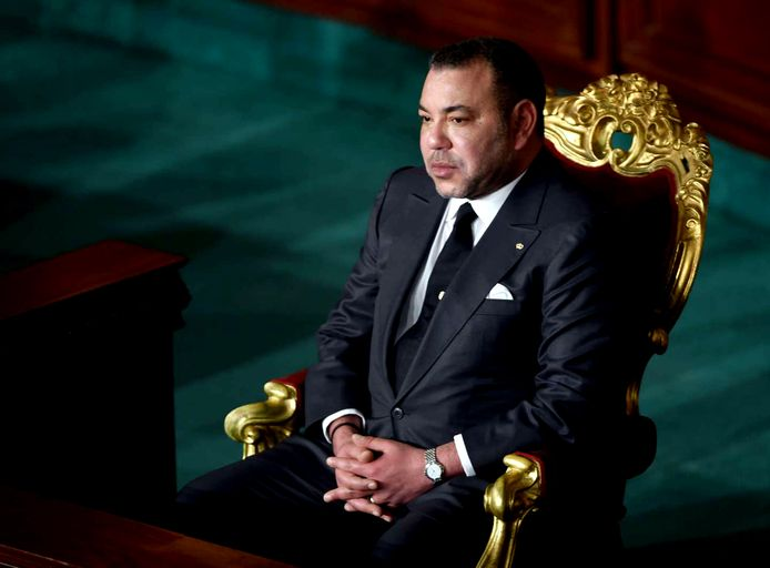 De Marokkaanse koning Mohammed VI.
