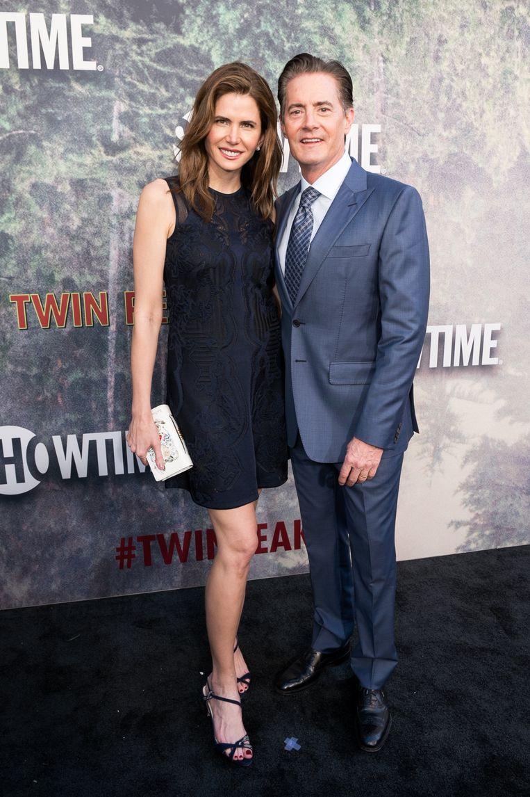 Kyle MacLachlan met zijn echtgenote, Desiree Gruber.
