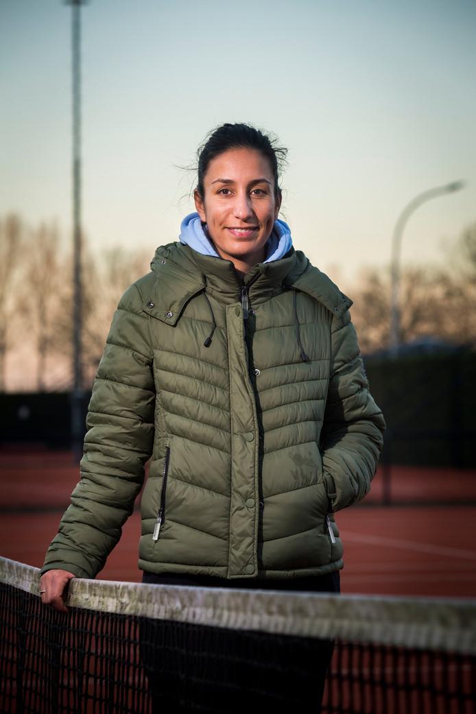 Elise Tamaëla weet dat ze als nieuwe trainer van Kiki Bertens in de schijnwerpers komt te staan.