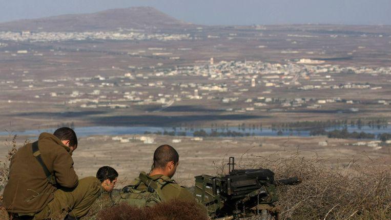 Israëlische soldaten in de Golan-hoogvlakte. Beeld afp
