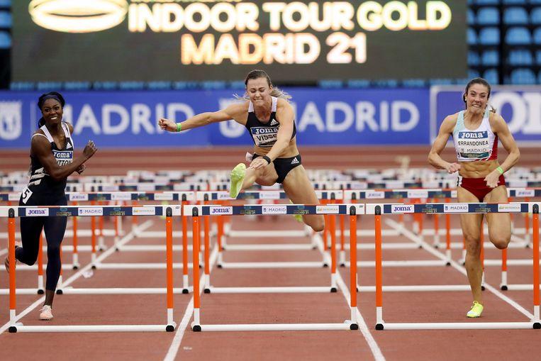 In Madrid was Visser vorige week de snelste op de 60 meter. Beeld EPA
