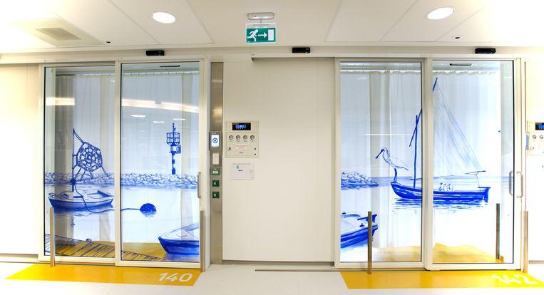De buitenkant van kamers van de afdeling Intensive Care Kinderen (ICK) van het Emma Kinderziekenhuis AMC. Beeld anp