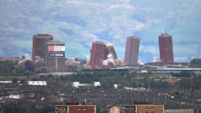 Opblazen flatgebouwen Glasgow mislukt: pech voor tweeduizend omwonenden