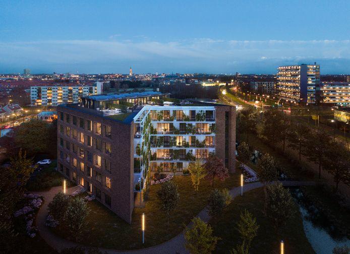 Het oude hoofdkantoor van de Suikerunie, nu Cosun 1, in Breda. Het kantoorpand staat al jaren leeg en wordt omgebouwd tot appartementencomplex.