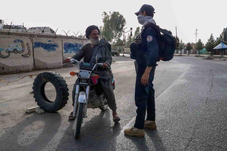 Checkpoint in Kandahar, eerder deze maand. Beeld EPA