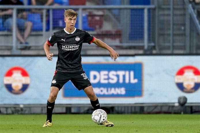 Dennis Vos eerder dit seizoen bij PSV 1 in een oefenduel met Willem II.
