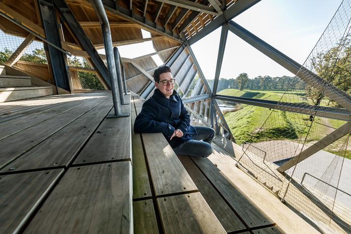 Fort de Roovere is een van de mooiste stukjes van Halsteren, vindt Jesse Bouwman