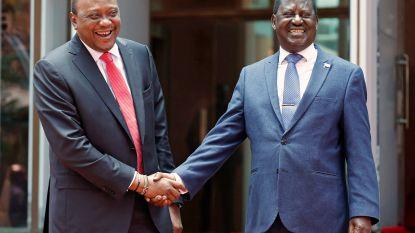 Keniaanse president en oppositieleider maken een einde aan maandenlang conflict