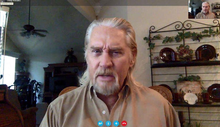 Doug Williams tijdens het Skypegesprek. Beeld