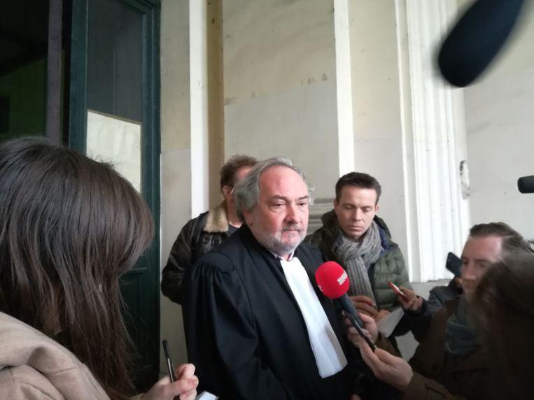 Bij advocaat Vincent Lurquin, die een slachtoffer verdedigt, werd een deel van het dossier gestolen. Beeld BELGA