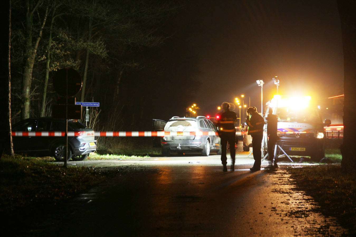 Het ongeluk gebeurde in Haarle
