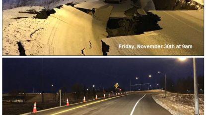 Het kan anders: deze weg werd vernield door een aardbeving en in enkele dagen hersteld