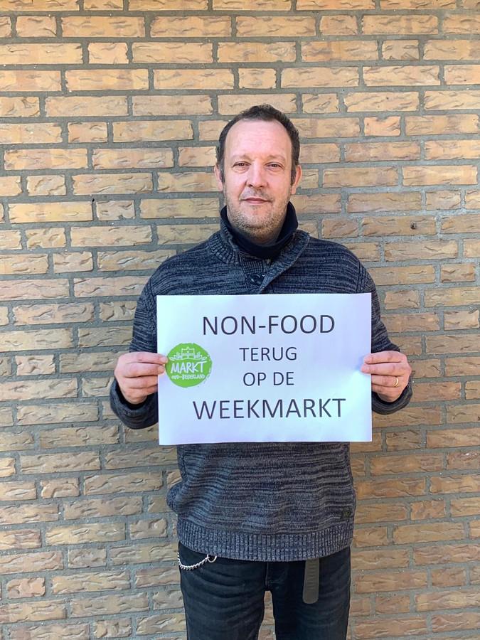 Toine van den Bosch, voorzitter van de markt in Oud-Beijerland.