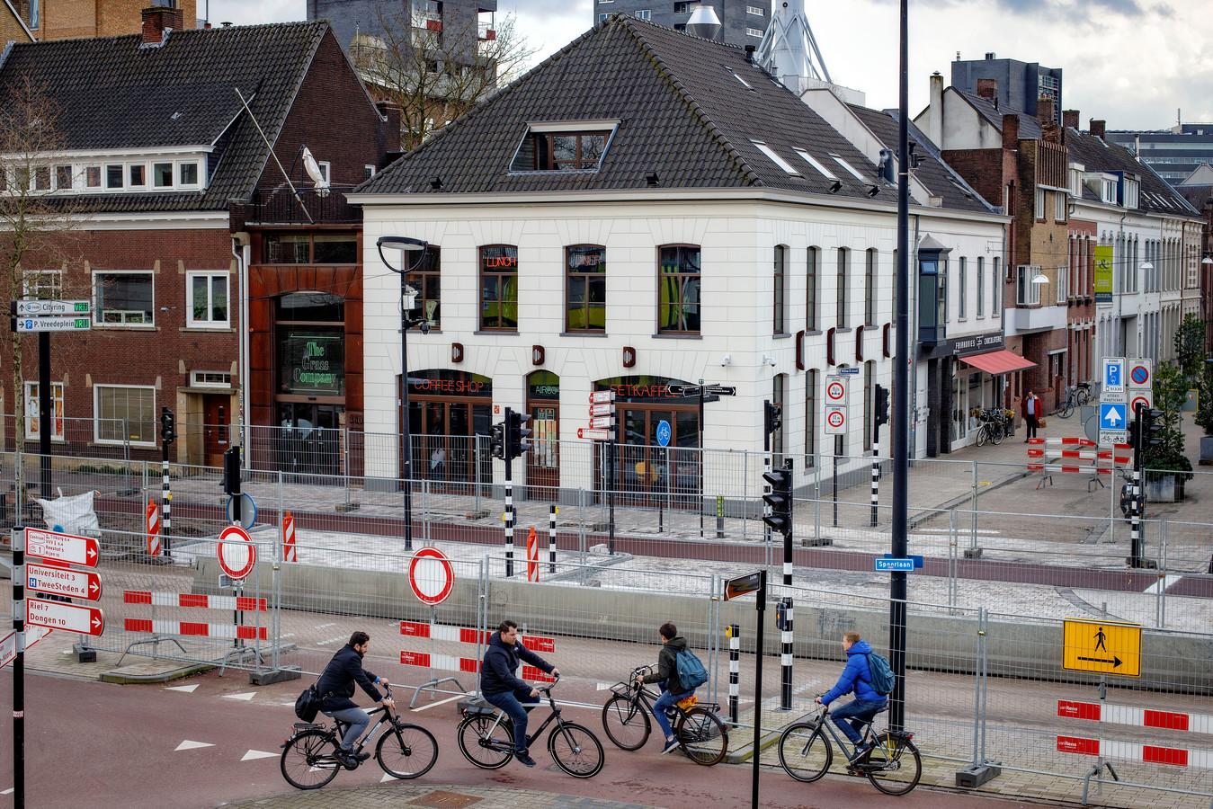 De coffeeshop van The Grass Company aan de Spoorlaan in Tilburg