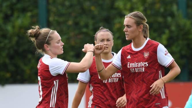 Roord maakt hattrick en Miedema scoort twee keer bij goede competitiestart Arsenal