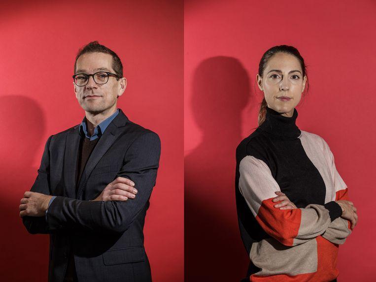 Tim Vanhoomissen en Goedele Leyssen. Beeld Bob Van Mol