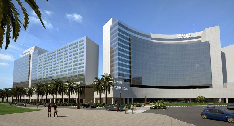 Op de tiende verdieping van het Hilton in Tanger kochten verdachten Mohamed A. en zijn echtgenote Salua een appartement aan voor 250.000 euro. Beeld rv